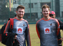 Liam Dawson and Steven Smith sport a smile, BPL 2018-19