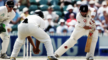 Ian Bell batted for nearly three hours for 54 on a tricky pitch in Hamilton in 2008 in England's total score of 110