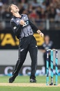 Lockie Ferguson roars after one of his strikes, New Zealand v Sri Lanka, Only T20I, Auckland, January 11, 2019