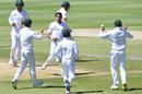 Mohammad Abbas celebrates a wicket, South Africa v Pakistan, 3rd Test, Johannesburg, 1st day