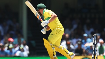 Aaron Finch was bowled by Bhuvneshwar Kumar