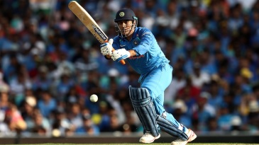 MS Dhoni works one on the leg side