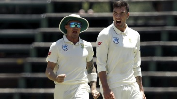 Duanne Olivier and Dale Steyn roar