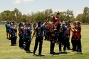 Lauren Ebsary is carried off the field after her last game, Perth Scorchers v Adelaide Strikers, Women's Big Bash League, Alice Springs, January 13, 2019