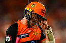 Michael Klinger leaves the field, Perth Scorchers v Sydney Sixers, Big Bash, Perth