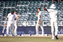 Dale Steyn celebrates after getting Imam-ul-Haq, South Africa v Pakistan, 3rd Test, Johannesburg, 3rd day, January 13, 2019