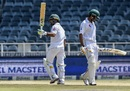 Asad Shafiq raises his bat after getting to a fifty, South Africa v Pakistan, 3rd Test, Johannesburg, 4th day, January 14, 2019