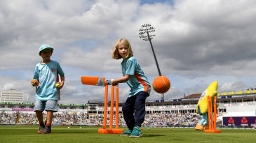 All Stars Cricket on the outfield at Edgbaston