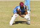Jahmar Hamilton goes through wicketkeeping drills, Barbados, January 14, 2019