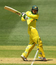 Usman Khawaja puts away a pull, Australia v India, 2nd ODI, Adelaide, January 15, 2018