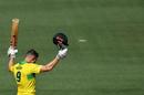 Shaun Marsh soaks in the applause, Australia v India, 2nd ODI, Adelaide, January 15, 2018