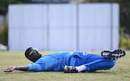 Jason Holder stretches out during training, Bridgetown, January 14, 2019