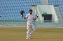 Rinku Singh celebrates his hundred, Uttar Pradesh v Saurashtra, Ranji Trophy 2018-19 quarter-final, Lucknow, January 15, 2019