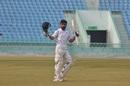 Rinku Singh celebrates his hundred, Uttar Pradesh v Saurashtra, Ranji Trophy 2018-19 quarter-final, Lucknow, January 15, 2019