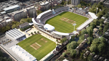 Artist's impression of the new Compton and Edrich Stands at Lord's, after planning permission was secured