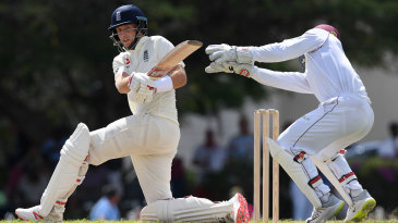Joe Root pulls through the leg side