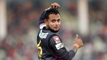 Arafat Sunny took three for eight against Dhaka Dynamites