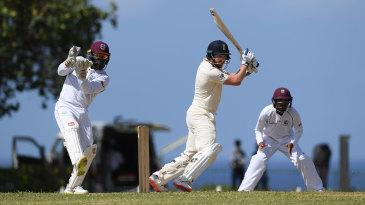 Jonny Bairstow drives through the covers