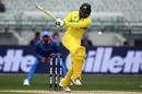 Usman Khawaja eyes the leg side, Australia v India, 3rd ODI, Melbourne, January 18, 2019