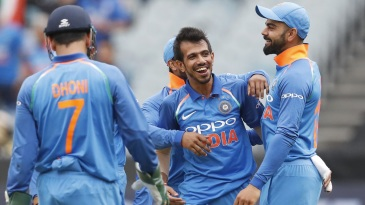 Yuzvendra Chahal wrecked Australia's middle order with three quick wickets
