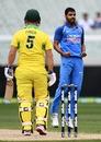 Bhuvneshwar Kumar got Aaron Finch...again, Australia v India, 3rd ODI, Melbourne, January 18, 2019