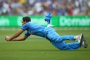 Bhuvneshwar Kumar dives forward to complete an athletic catch, Australia v India, 3rd ODI, Melbourne, January 18, 2019