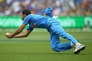 Bhuvneshwar Kumar completes an excellent diving catch, Australia v India, 3rd ODI, Melbourne, January 18, 2019