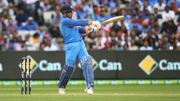 MS Dhoni plays a pull