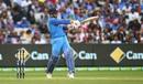 MS Dhoni plays a pull, Australia v India, 3rd ODI, Melbourne, January 18, 2019
