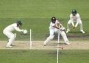 Kusal Mendis backs away to play a cut shot, Cricket Australia XI v Sri Lankans, 2nd day, warm-up match, Hobart, January 18, 2019