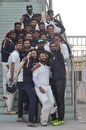 The victorious Saurashtra players, Uttar Pradesh v Saurashtra, Ranji Trophy 2018-19, Lucknow, 5th day, January 19, 2019