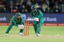 Mohammad Hafeez watches closely as he gets onto the front foot, South Africa v Pakistan, 1st ODI, Port Elizabeth
