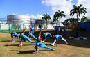 West Indies warm up during training, Barbados, January 20, 2019