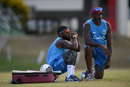 Jahmar Hamilton and Floyd Reifer during West Indies' President's XI training, Barbados, January 18, 2019