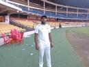 Tanveer ul-Haq at the M Chinnaswamy Stadium, Rajasthan v Karnataka, Ranji Trophy 2018-19, January 16, 2019