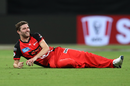 Harry Gurney sports a smile, Sydney Thunder v Melbourne Renegades, BBL 2018-19, Sydney, January 22, 2019