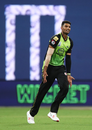 Gurinder Sandhu celebrates a wicket, Sydney Thunder v Melbourne Renegades, BBL 2018-19, Sydney, January 22, 2019