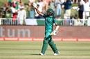 Hasan Ali celebrates his fifty, South Africa v Pakistan, 2nd ODI, Durban, January 22, 2019