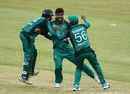 Shadab Khan is pumped after taking a wicket, South Africa v Pakistan, 2nd ODI, Durban, January 22, 2019