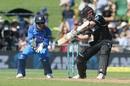 Kane Williamson cuts the ball, New Zealand v India, 1st ODI, Napier, 23 January, 2019