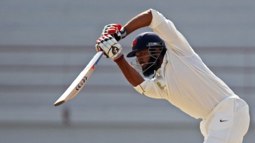 Wasim Jaffer plays a drive