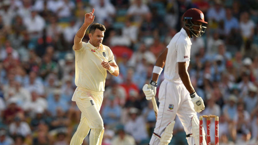 James Anderson breaks through to turn first Test for England