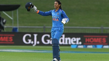 Smriti Mandhana brought up her fourth ODI century