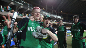 Pink-haired Kevin O'Brien became the poster boy of Ireland cricket after his epic knock of 113 off 63 balls