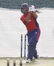 Gyanendra Malla plays a shot, January 24, 2019