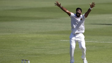 Lahiru Kumara's lbw appeal is turned down