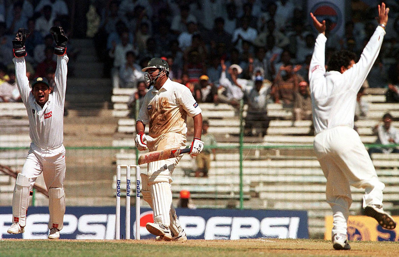 Tendulkar, the Man of the Match, also took three wickets in the game, including Inzamam-ul-Haq in the second innings