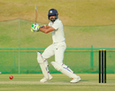 Faiz Fazal steers the ball into the off side, Kerala v Vidarbha, Ranji Trophy 2018-19, 1st semi-final, Wayanad, 1st day, January 24, 2019