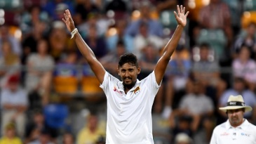 Suranga Lakmal picked up his first five-for in Australia