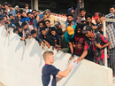 Sam Billings signs autographs at the Greenfield International Stadium, India A v England Lions, 2nd unofficial ODI, Thiruvananthapuram, January 25, 2019